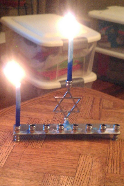 menorah night one