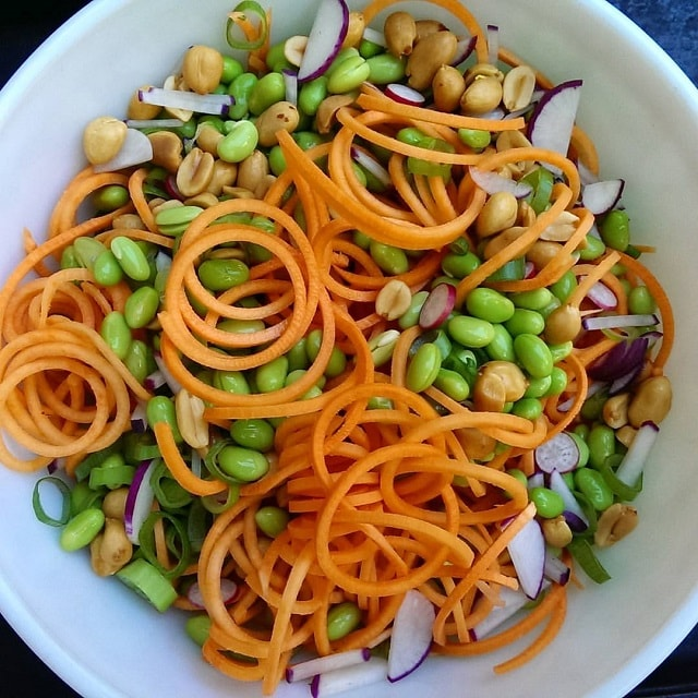 spiralized sweet potato salad