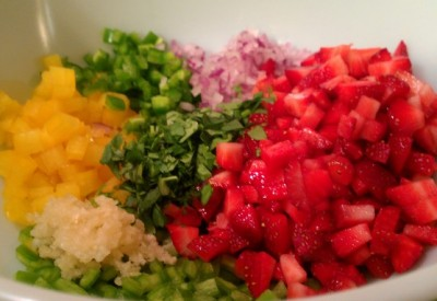 strawberry salsa chopped