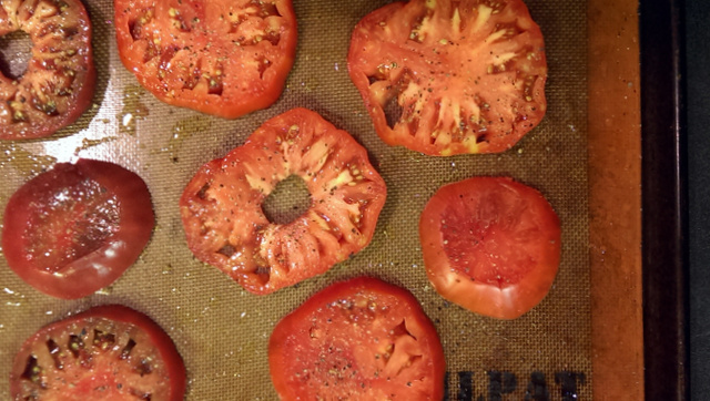 tomatoes on silpat