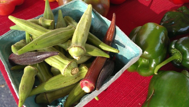 okra and peppers