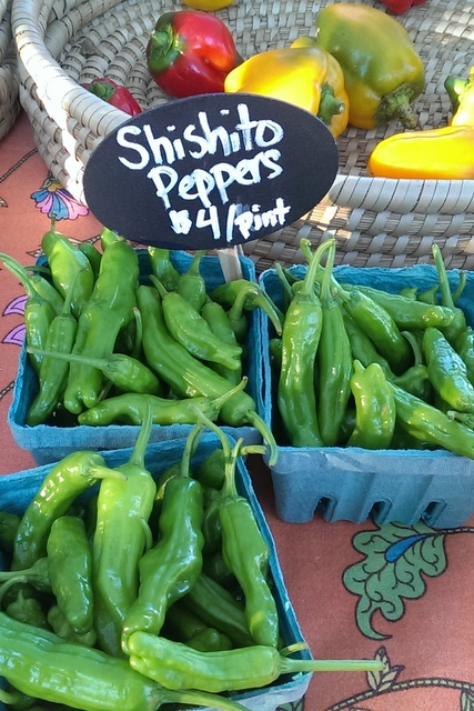 shishito and bell peppers