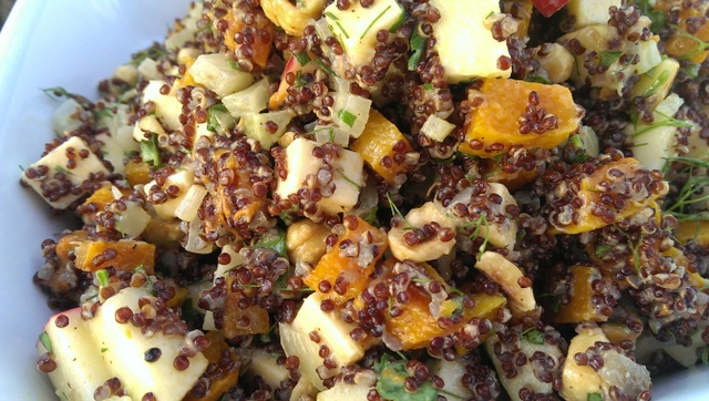 quinoa salad with butternut squash