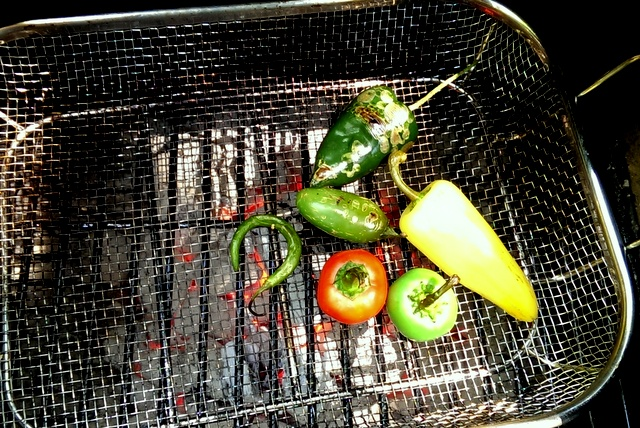 smoking peppers