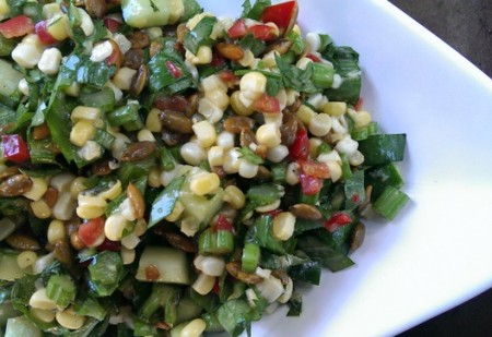 corn and celery summer salad