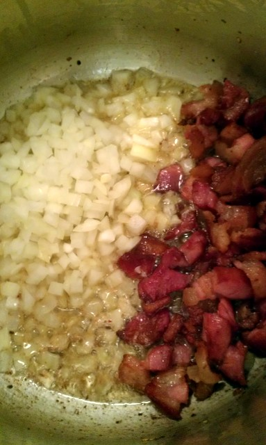 add onions to bacon