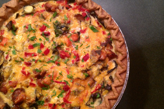 finished quiche