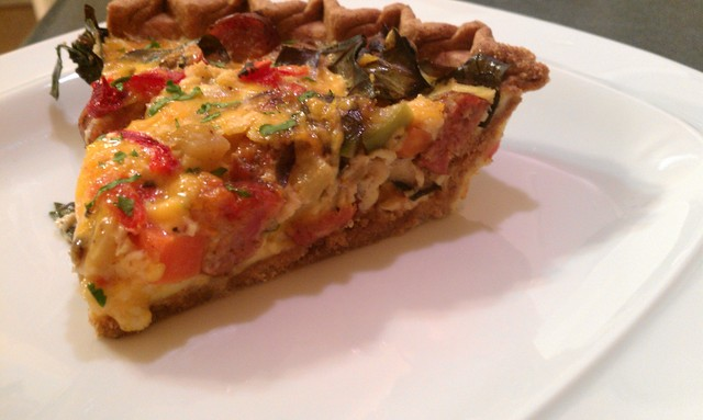 perfect slice of quiche