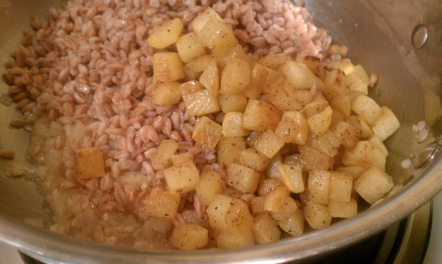 add rutabaga to farro