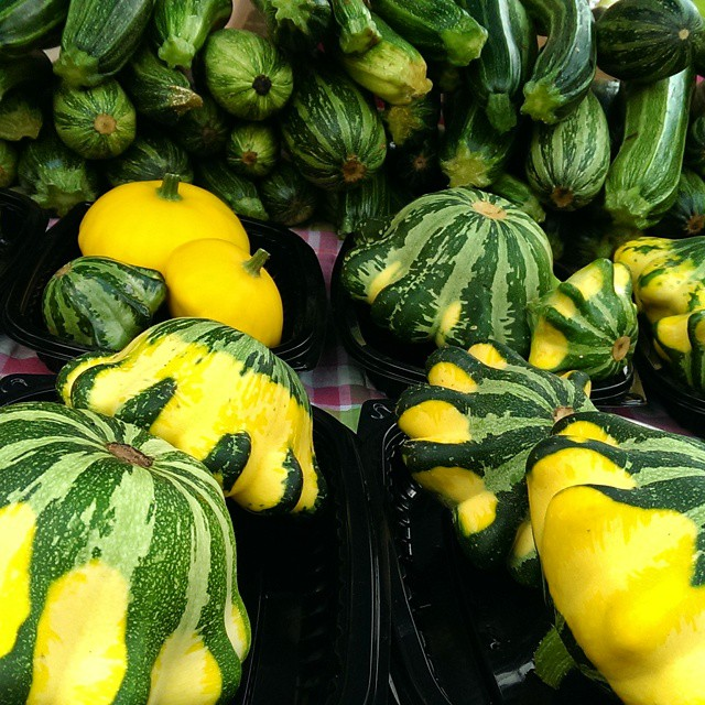 Squashes at market