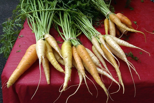 carrots at market