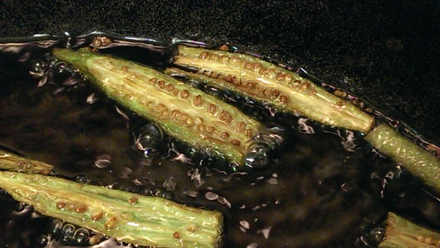 frying okra