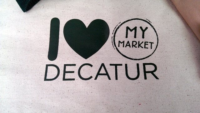 i heart my decatur market bag