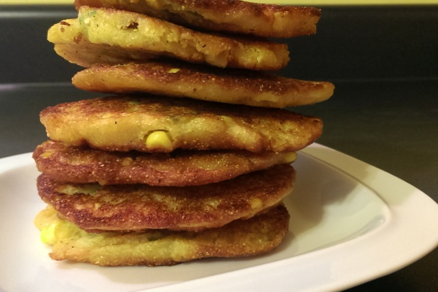 stack of corn cakes