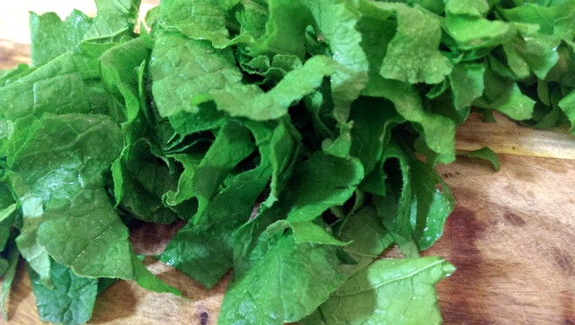turnip greens cut