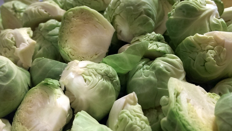 brussel sprouts cut