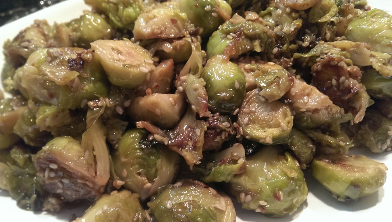 sesame brussel sprouts