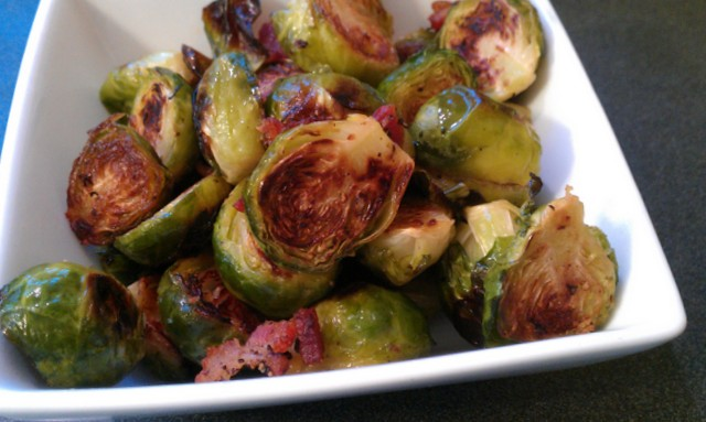 bacon roasted sprouts